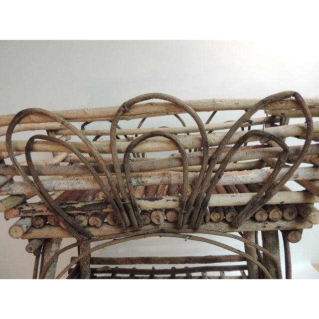 Vintage Willow and Wicker Large Plant Stand - Image 4 of 6