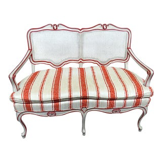 Vintage Mid Century W&j Sloane Louis XV Style Settee For Sale