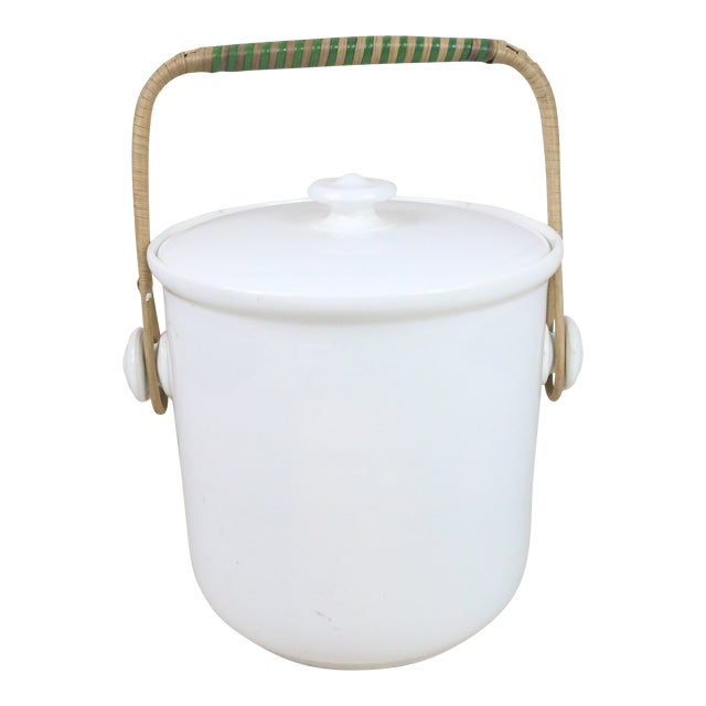 Late 19th Century French Ironstone Covered Bucket For Sale