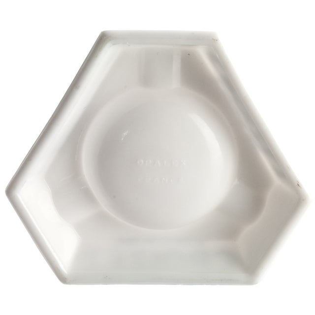 Vintage French Croizet Cognac Milk Glass Ashtray - Image 3 of 3