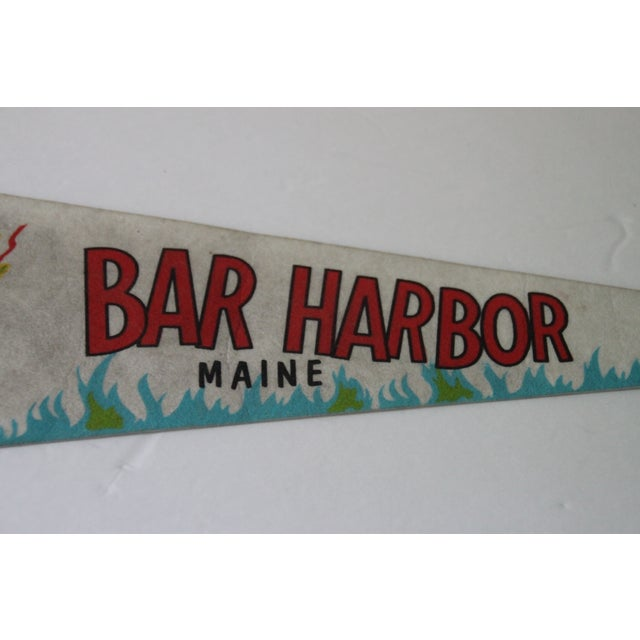 Nautical Bar Harbor, Maine Pennant For Sale - Image 3 of 4