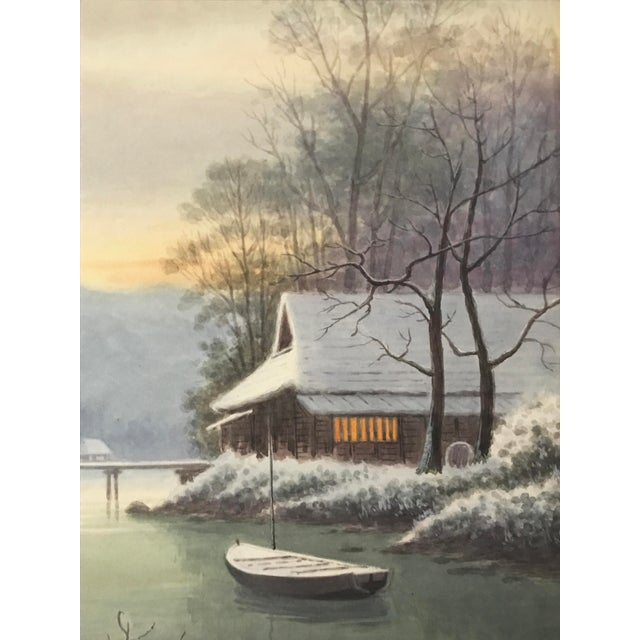 Japanese Landscape Watercolor Painting - Image 5 of 9