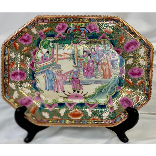 Vintage Famille Rose Decorative Platter For Sale In Greensboro - Image 6 of 9