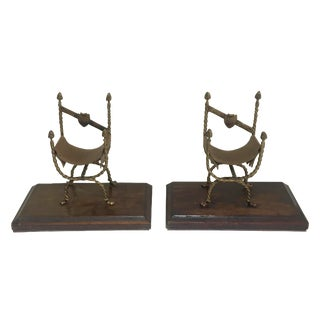 Vintage Italian Chair Bookends - A Pair