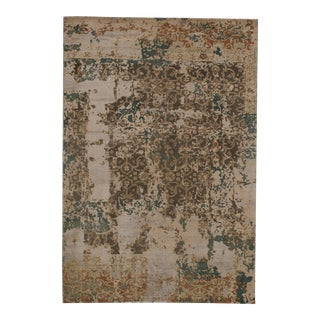 "Pasargad N Y Modern Wool & Bamboo Silk Hand Knotted Area Rug - 5'1"" X 7'5"" For Sale"