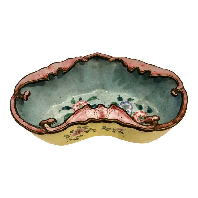 Late 19th Century Chinese Enamel Catchall Dish For Sale