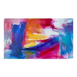 """""""Miami Sun by Trixie Pitts Large Abstract Expressionist Oil Painting For Sale"""