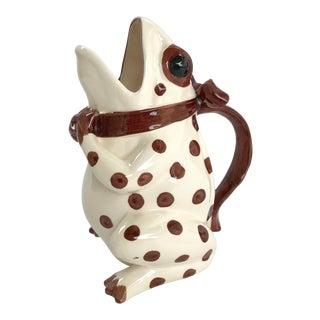 Vintage Polka Dot Frog Pitcher For Sale