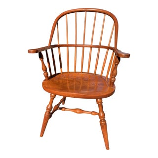1950s Vintage Original Leopold Stickley Rockport Windsor Armchair For Sale