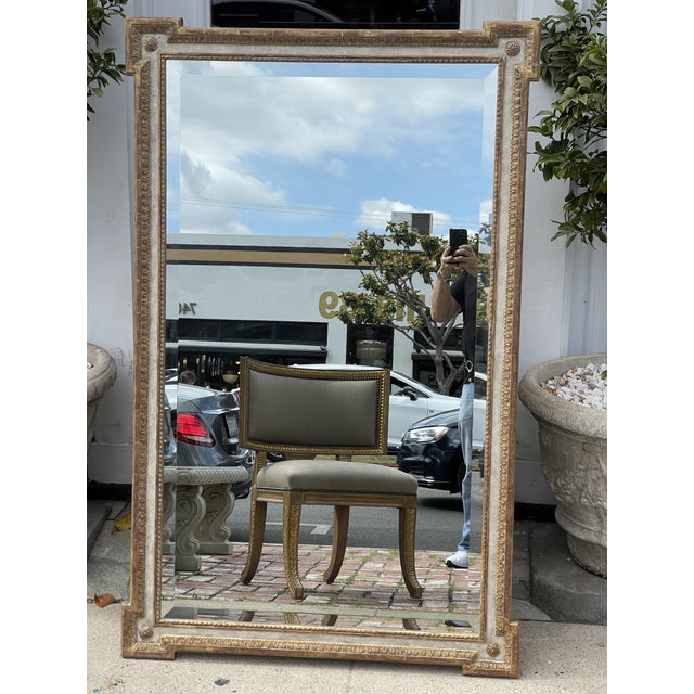 18th C Style Quatrain for Dessin Fournir Giltwood Neoclassical Mirror For Sale In Los Angeles - Image 6 of 7