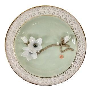 """Vintage Original """"Fengyu"""" Porcelain Display Plate For Sale"""