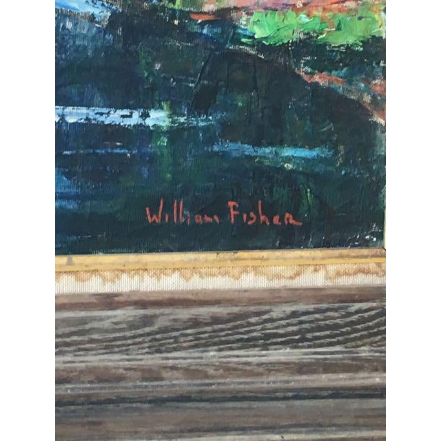 Mid 20th Century Maine River Landscape Painting by William Fisher For Sale - Image 5 of 10