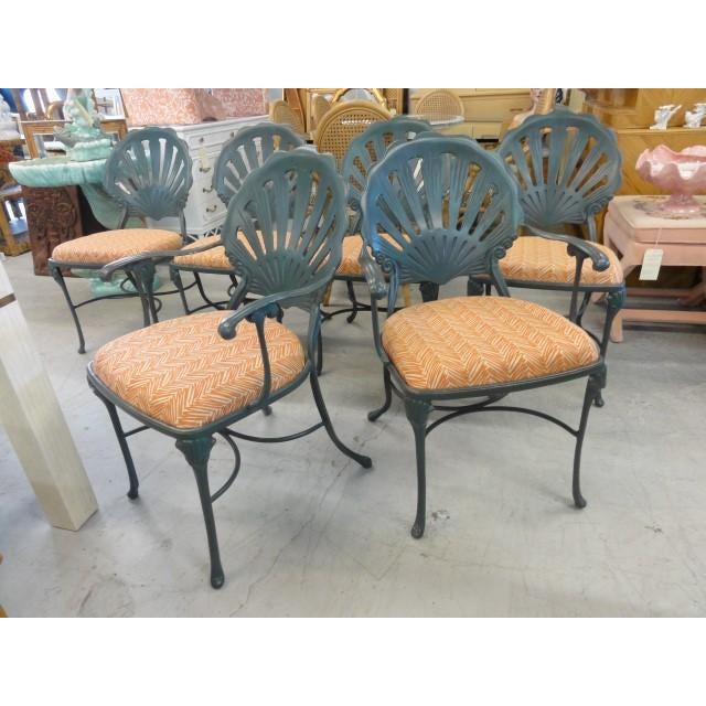 Vintage Shell Back Chairs - Set of 6 - Image 4 of 11
