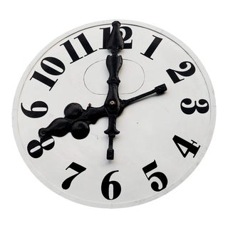 Church Metal Clock Face With Original Hands For Sale