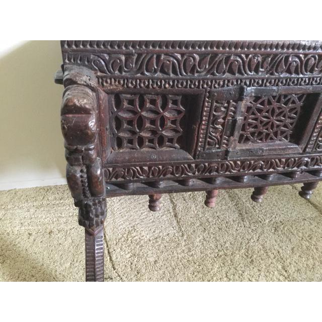 Antique Indian Wood Carved Sideboard - Image 8 of 10