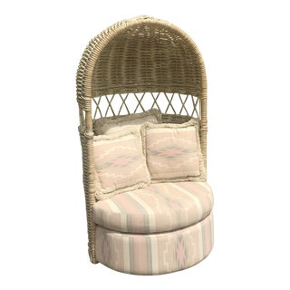 Bamboo Hooded Dome Chair For Sale