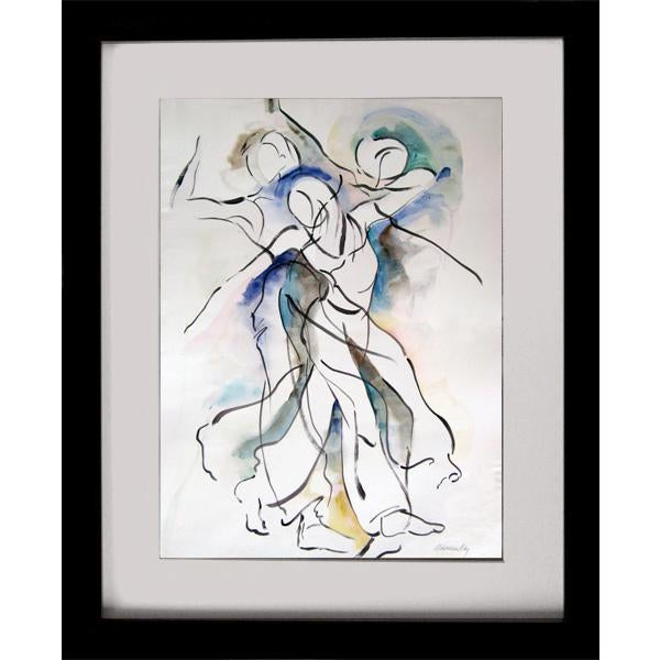 "Original Abstract Figurative ""Movement 4"" Painting For Sale - Image 4 of 6"