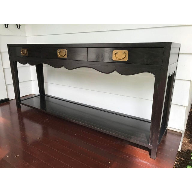 Hickory Chair Three Drawer Console - Image 3 of 10