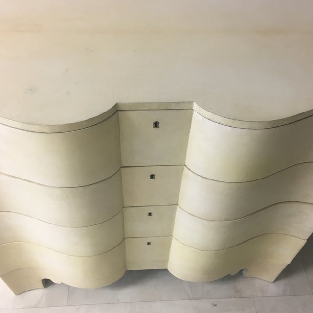 1970s Vintage Goatskin Chest of Drawers a Pair For Sale - Image 5 of 13