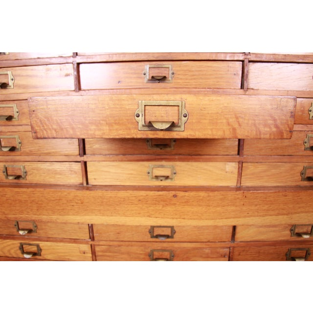 Antique Oak 57-Drawer Cabinet, Circa 1920s For Sale - Image 9 of 13