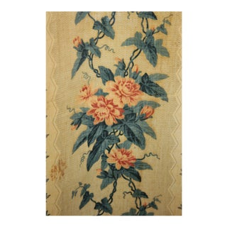 Antique Chintz Block Printed Fabric Curtain For Sale