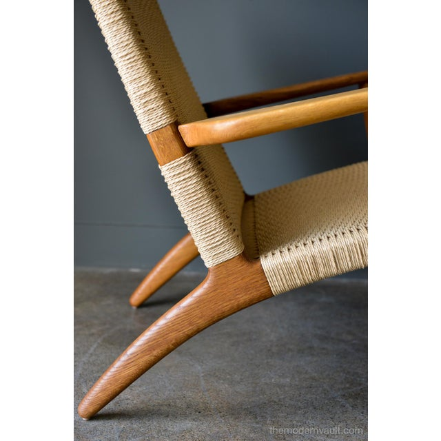 Tan 1950s Vintage Hans Wegner for Carl Hansen & Son Ch 25 Lounge Chair For Sale - Image 8 of 12