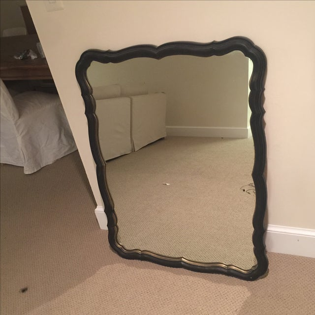Traditional Black and Gold Scalloped Mirror - Image 2 of 11