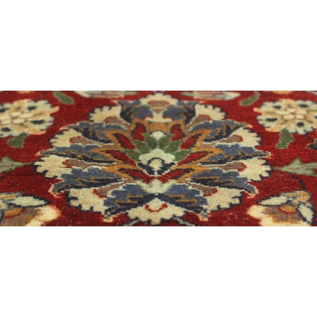 """Transitional Heritage Sixta Red & Blue Wool Rug - 12'1"""" x 17'5"""" For Sale - Image 3 of 7"""