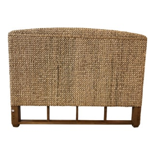 California King Woven Seagrass Headboard For Sale