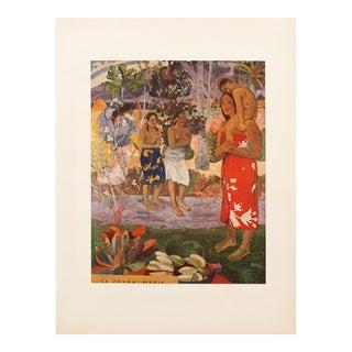 "Vintage Mid Century ""La Orana Maria"" Lithograph by Paul Gauguin For Sale"