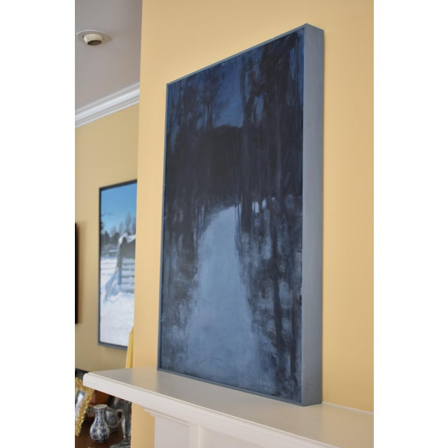 """Paint """"Turning Into the Night"""" Contemporary Abstract Landscape Acrylic Painting by Stephen Remick For Sale - Image 7 of 11"""