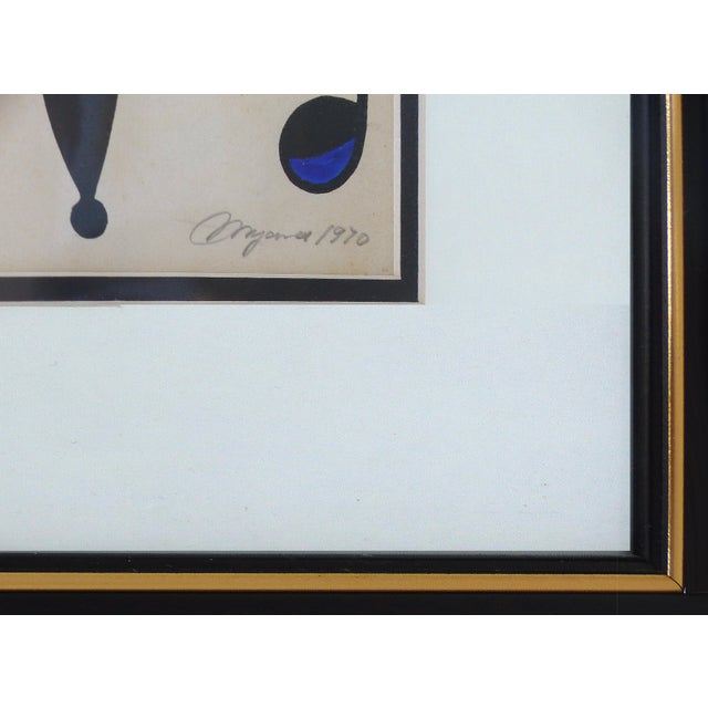 Lithograph 1970 Abstract Lithograph by Cuban-American Artist Jose Maria Mijares For Sale - Image 7 of 8