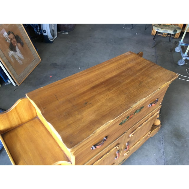"""Red Atomic Age """"La Fiesta"""" Western Sideboard by Monterey Furniture For Sale - Image 8 of 9"""