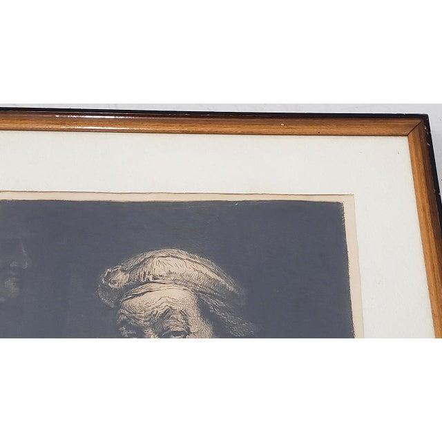 Portraiture Rembrandt Self Portrait Engraving For Sale - Image 3 of 8