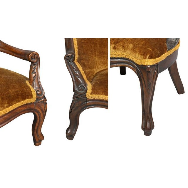 Unusual Suite of American Victorian Walnut Miniature Seating Furniture For Sale In Boston - Image 6 of 11