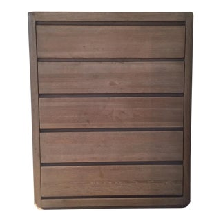 Transitional Restoration Hardware Martens 5-Drawer Narrow Dresser For Sale