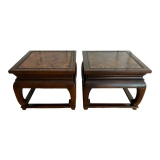 Mid-Century Baker Asian Modern Square Tables - a Pair For Sale