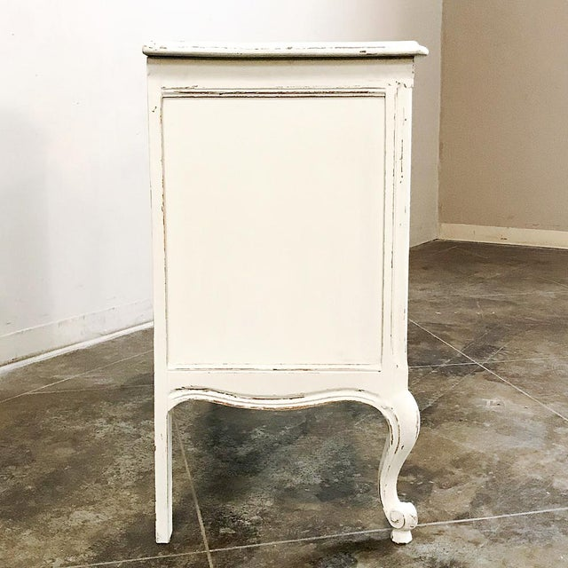 Antique Country French Provincial Painted Commode For Sale - Image 4 of 12