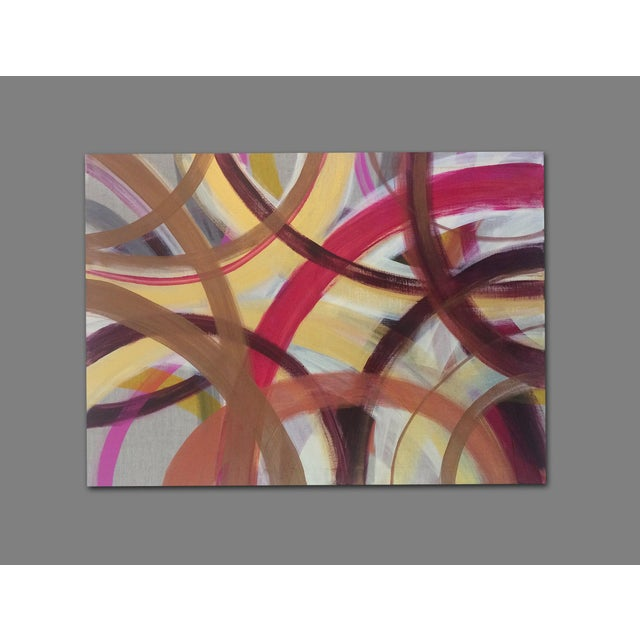 'AUTUMN' original abstract painting by Linnea Heide - Image 6 of 7