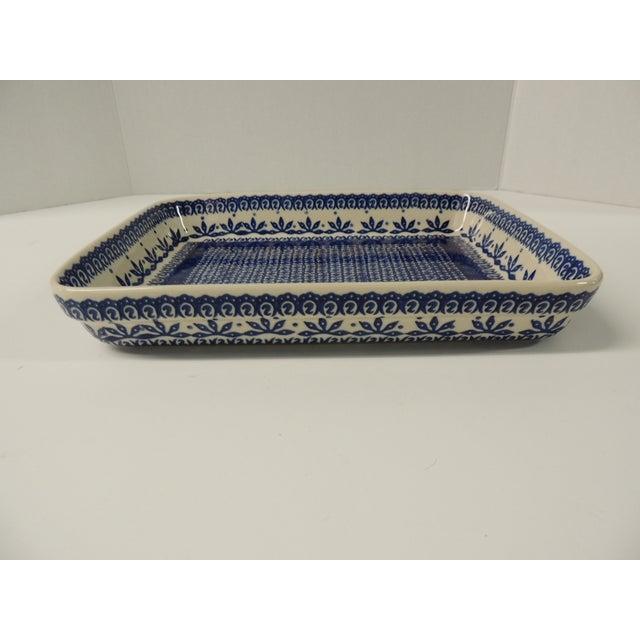 Vintage Blue & White Ironstone Serving Platter - Image 3 of 4