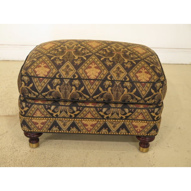 Black Hancock & Moore Tarleton Upholstered Chair & Ottoman - a Pair For Sale - Image 8 of 13