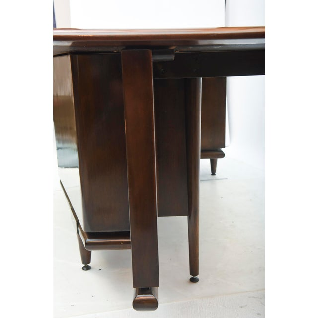 Monteverdi-Young Fine American Modern Dark Walnut Executive Desk, Custom Made by Monteverdi Young For Sale - Image 4 of 10