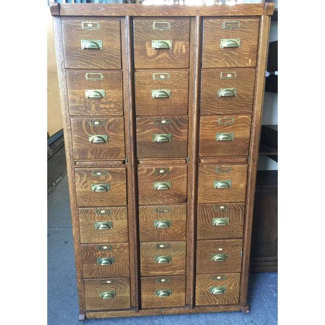 Antique Oak Letter File 21 Drawer For Sale - Image 12 of 12