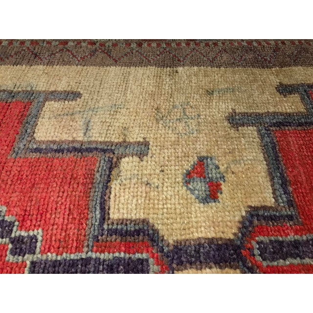 Bellwether Rugs Tribal Pattern Vintage Turkish Oushak Rug - 2′10″ × 12′3″ - Image 10 of 11