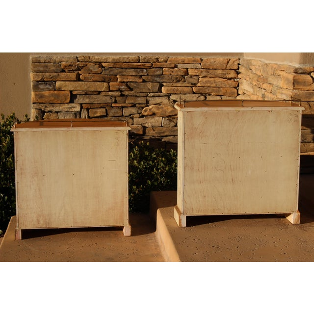 Karges Painted Demilune Nightstand - Pair For Sale - Image 11 of 11