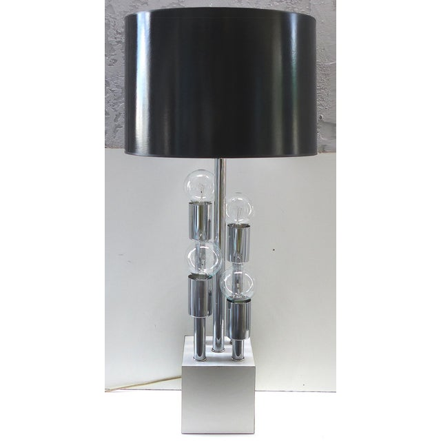 Mid-Century Modern Chrome Table Lamp For Sale In Miami - Image 6 of 6