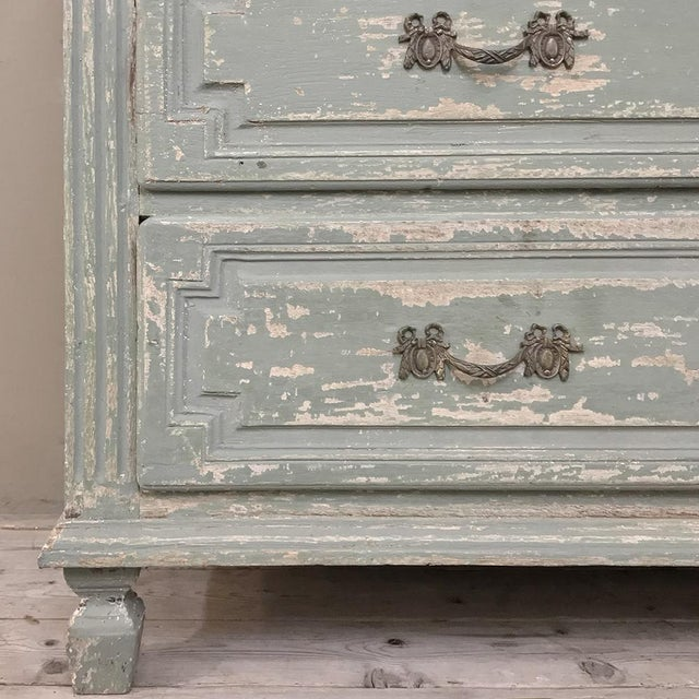 Wood 18th Century Country French Painted Commode For Sale - Image 7 of 13
