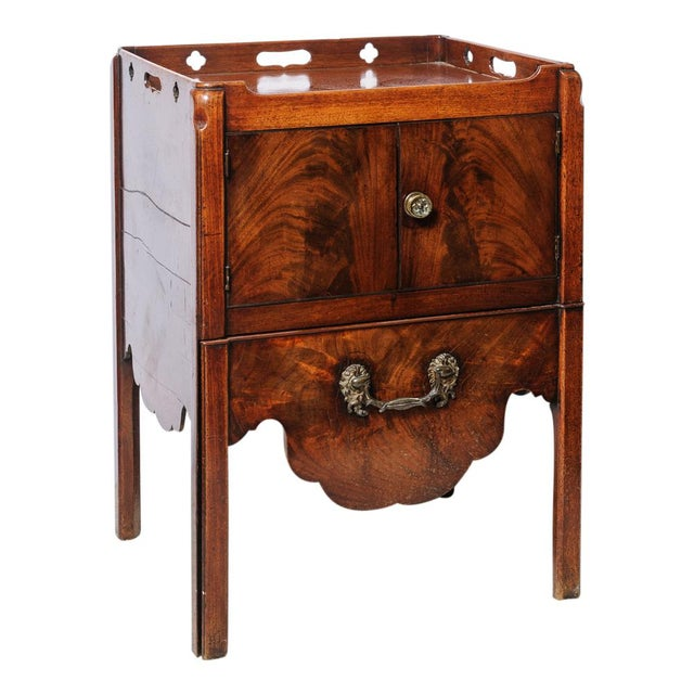 Antique English Night Stand For Sale - Image 9 of 9