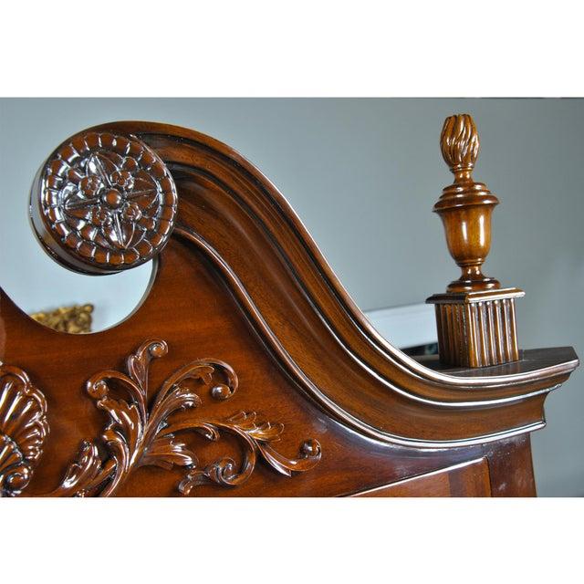 Carved Mahogany Corner Cabinet For Sale - Image 6 of 8