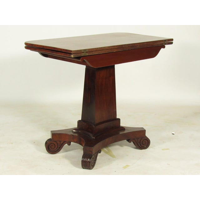 American Classical 19th Century American Empire Card Table For Sale - Image 3 of 11